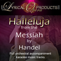 Halleluja from the Messiah by Handel, Full Orchestral Accompaniment (karaoke) tracks